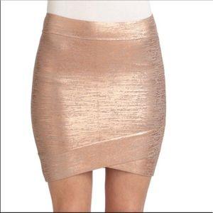 BGBC Rose Gold Mini Skirt Stretchy Size M
